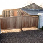Double Size Solid Wood Gates
